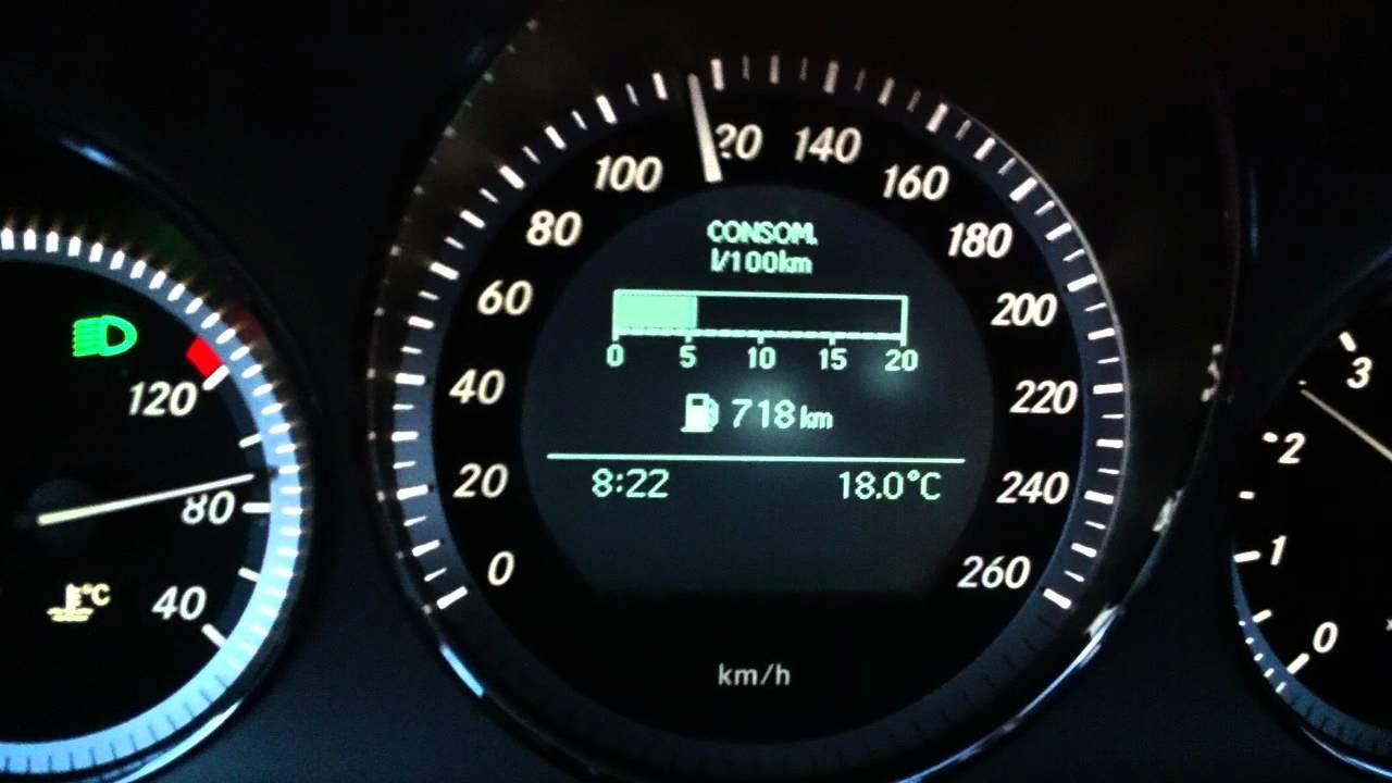 mercedes c class c300 w204 fuel consumption - youtube