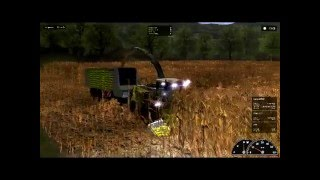 Silage harvesting in Agrar simulator 2011 Gold edition