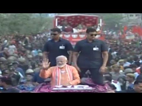 Full coverage of PM Modi's 6 km long roadshow in Varanasi