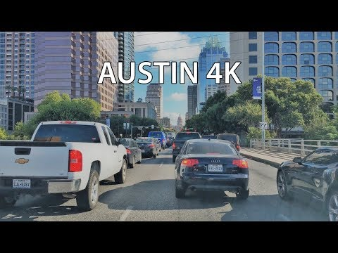 Driving Downtown - Austin Main Street 4K - Texas USA