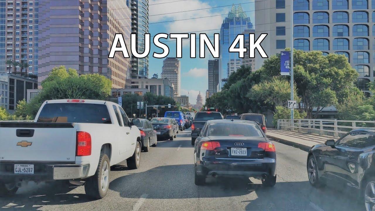 Driving Downtown - Austin Main Street 4K - Texas USA