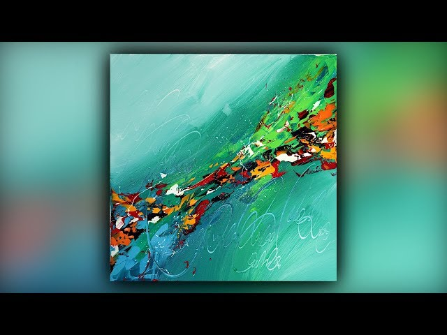 Satisfying Abstract Painting / Acrylics / Colorful / Palette Knife / Demo #088