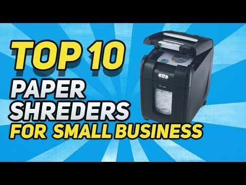 ▶️ Best Paper Shredder For Small Businesses 2018 [ Best Commercial Paper Shredders ]
