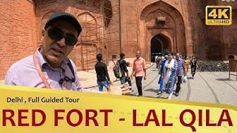 """""""RED FORT"""" लाल किला Delhi 4K Full Guided Tour"""
