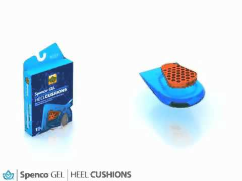Spenco GEL Heel Cups Cushions and Ball of Foot Cushions