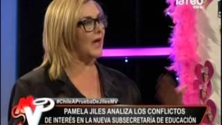 Pamela Jiles  analiza los problemas de la subsecretaria de Educación