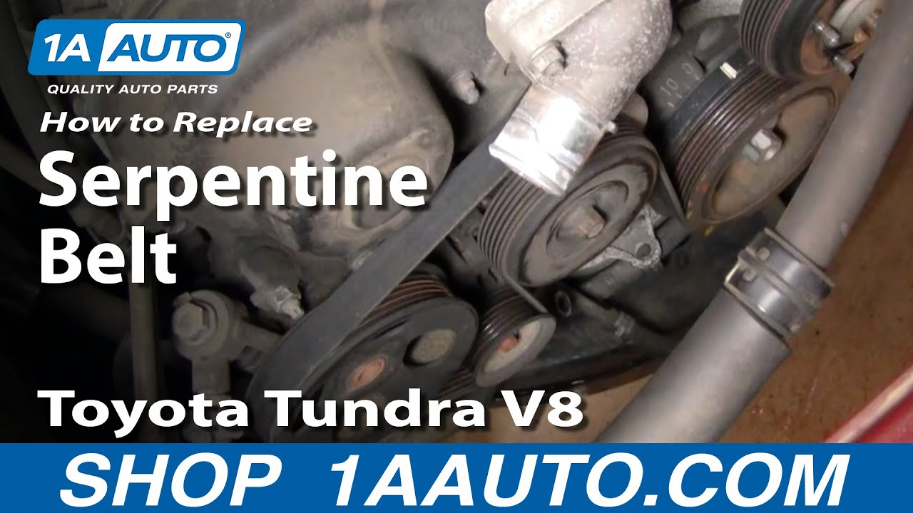 how to replace serpentine belt 00 02 toyota tundra v8 [ 1280 x 720 Pixel ]