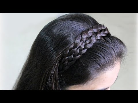 Beautiful Hairstyle for hair band hairstyles | How to make Braids Hairstyles | Hair style party