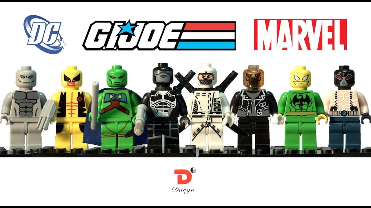 Top 10 Custom Lego GI Joe Lego Minifigures! - YouTube