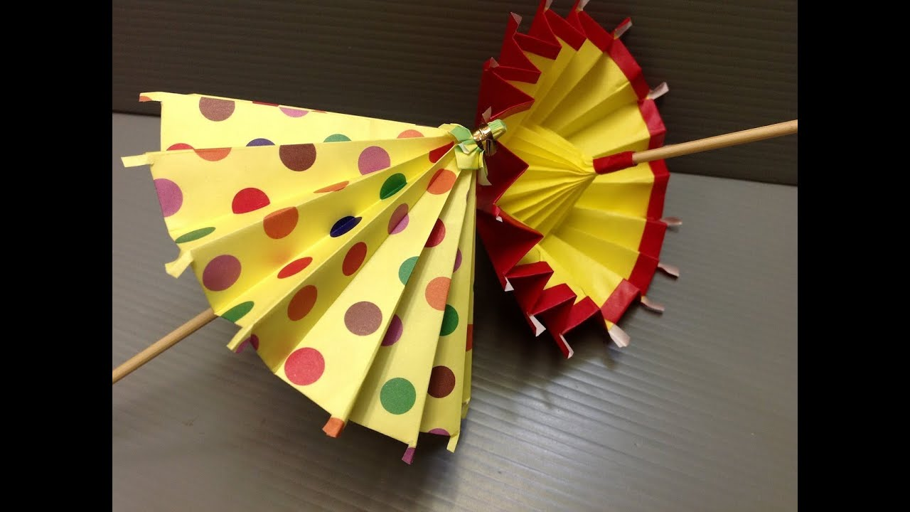 daily origami 183 umbrella youtube