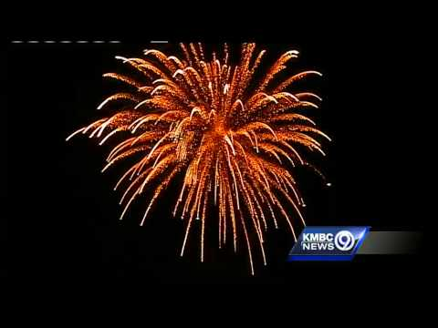 Fireworks show ends with America