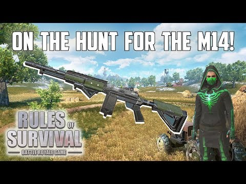 ON THE HUNT FOR THE M14! - Rules of Survival: Battle Royale