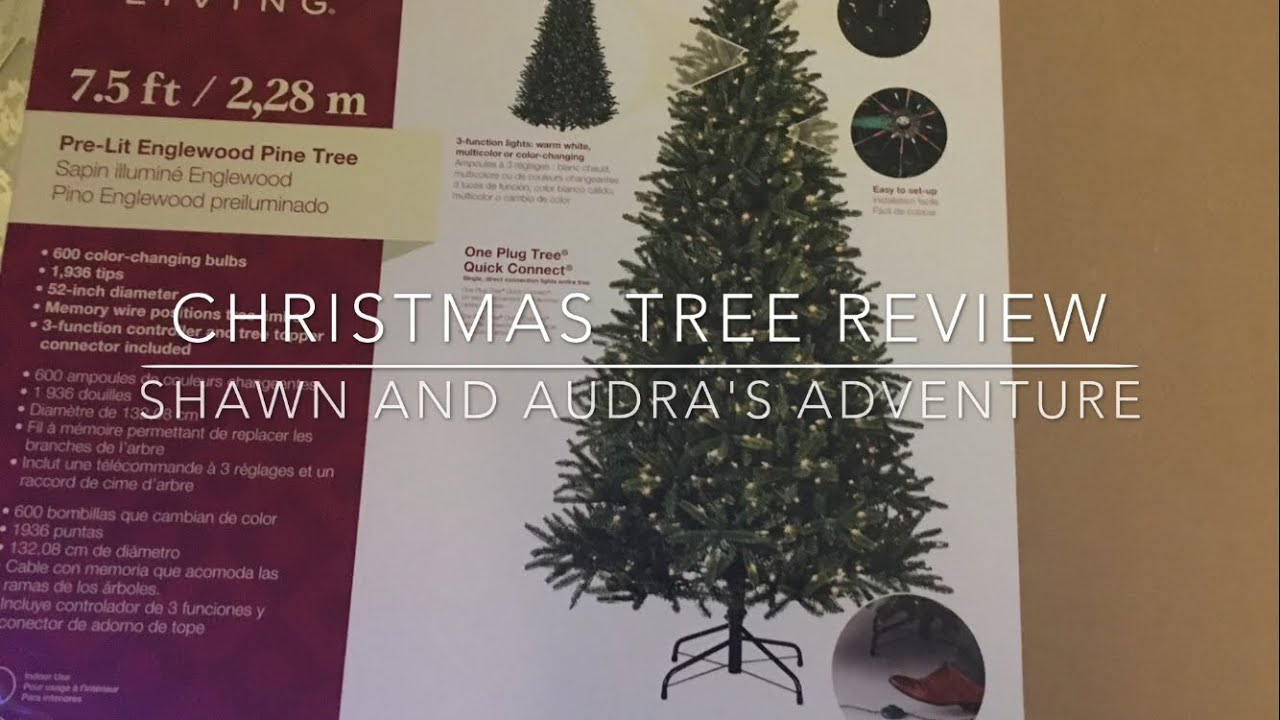 Living Christmas Tree.Christmas Tree Holiday Living Pre Lit Englewood Pine Tree Model 024377 Review Video