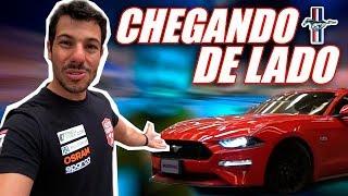 FORD MUSTANG GT 5.0 v8 466CV 2018 VERMELHO CHEGANDO DE LADO NO BRASIL | VLOG #170
