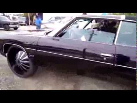 Mr. Ugly Man kustom black plum donk on 28's with the get down