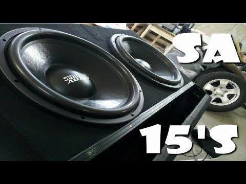 2 Sundown Audio SA 15's on a Hifonics 2000 Watt Amp
