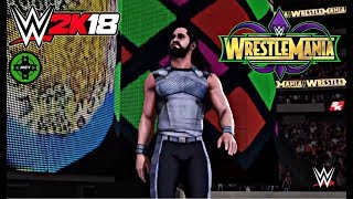 WWE 2K18 Wrestlemania 34 Seth Rollins Entrance!!!