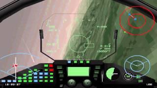 EF2000 version2.04 one EF2000 vs 4 F-16s