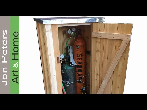 How to Make a Small Outdoor Tool Shed - YouTube