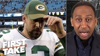 Aaron Rodgers falls off Stephen A.'s top 5 quarterback list | First Take