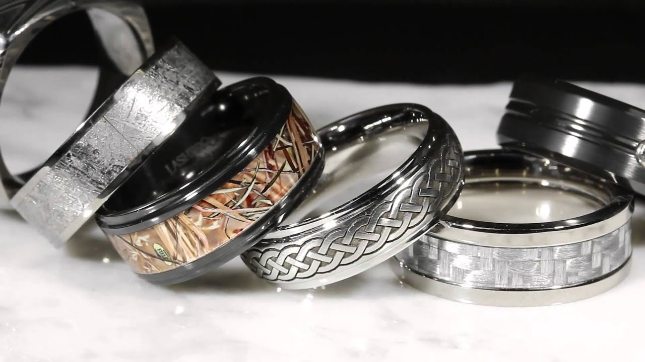 men s wedding bands in alternative metals youtube