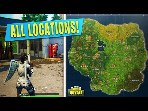 """Fortnite """"Visit Different Gas Stations in a single match"""" ALL LOCATIONS Week 5 Challenge Fortnite!"""