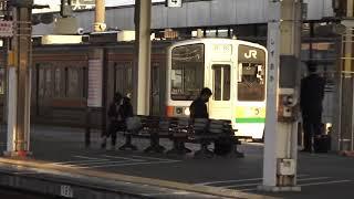 東海道本線211系+313系普通列車浜松行き静岡駅到着シーン2020.12.01.