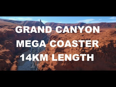 Planet Coaster: Grand Canyon MegaCoaster 14KM LENGTH