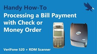Processing a Bill Payment with Check or Money Order with the VeriFone 520