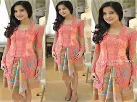 Kebaya Modern Warna Pink Youtube