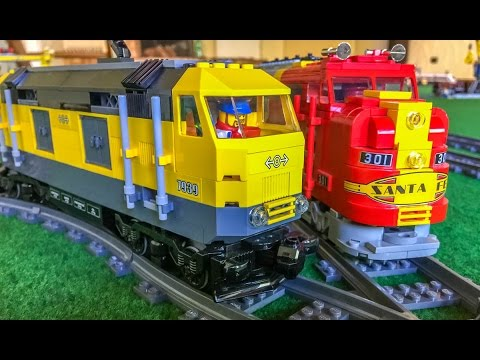 Lego Trains in Action! Wonderful long Train sets! - YouTube