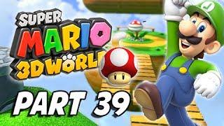 Super Mario 3D World Walkthrough Part 39 - Broken Blue Bully Belt (100% Green Stars & Stamps)