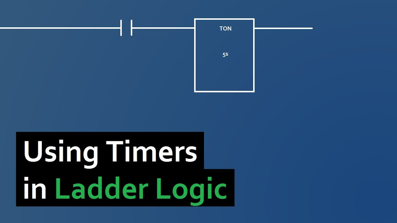 plc programming how to use timers in ladder logic youtube ladder logic diagram from a plc can be called up on a browser screen [ 1280 x 720 Pixel ]