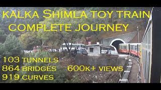 KALKA SHIMLA TOY TRAIN ROUTE CONSISTING OF 103 TUNNELS, 864 BRIDGES, 919 CURVES HIMACHAL PRADESH