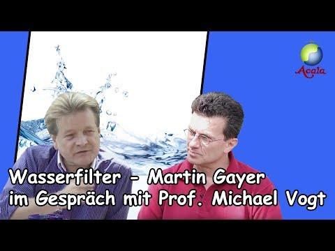 Wasserfilter - Martin Gayer im Gespräch bei Prof. Michael Vogt