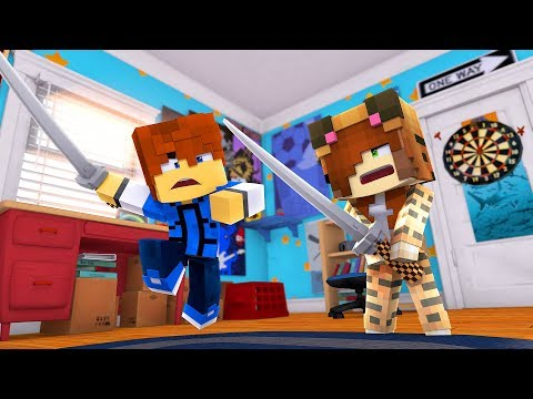 Minecraft Daycare - SWORD FIGHT !? (Minecraft Roleplay)