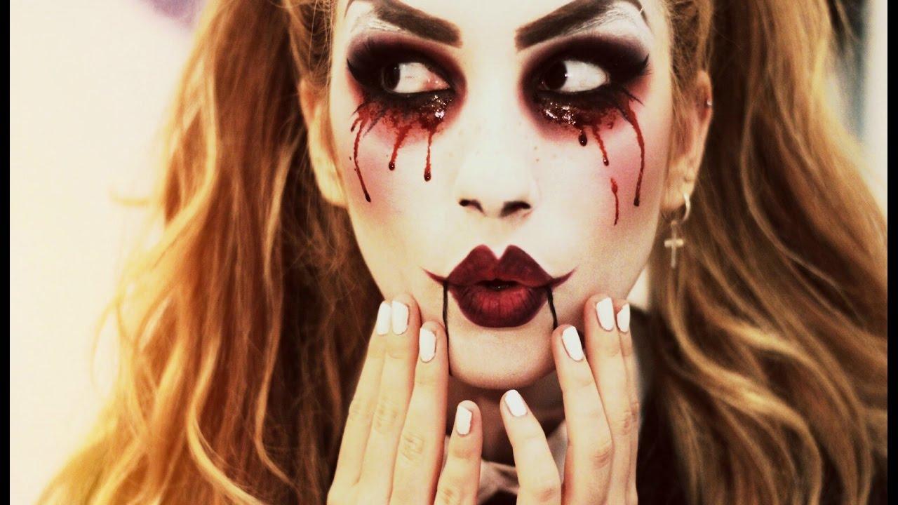 HALLOWEEN Maquillaje mueca ventrlocuo diablica Creepy Doll