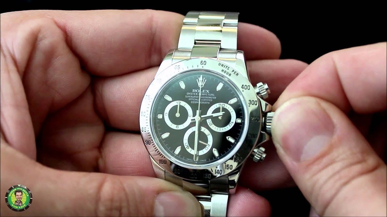 0f46f8894 How to Wind a Rolex Watch and Set the Time & Date – Submariner, Datejust  II, Daytona & GMT Master II - YouTube