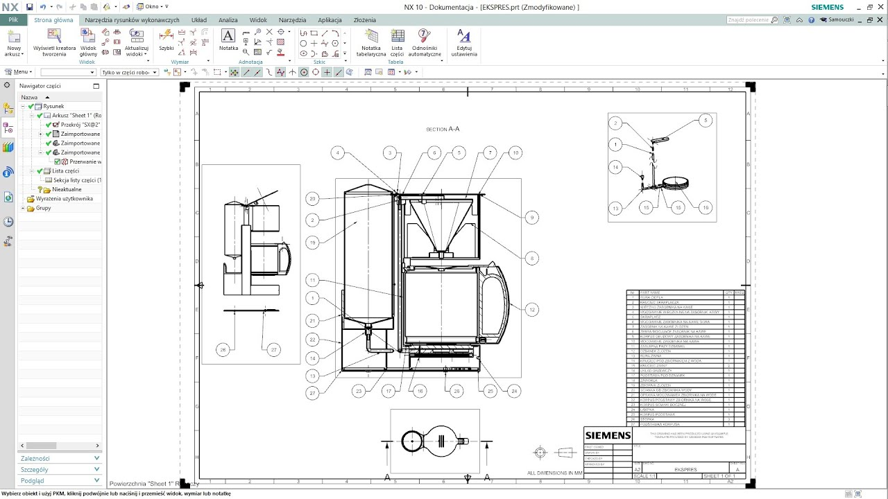 siemens nx 10 assembly drafting youtube