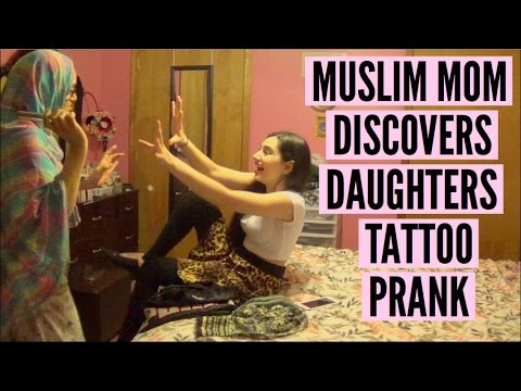 MUSLIM MOM DISCOVERS DAUGHTERS TATTOO PRANK!!
