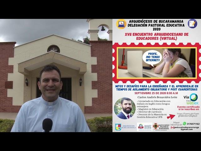 Invitación Encuentro de Educadores 2020 Arquidiócesis de Bucaramanga