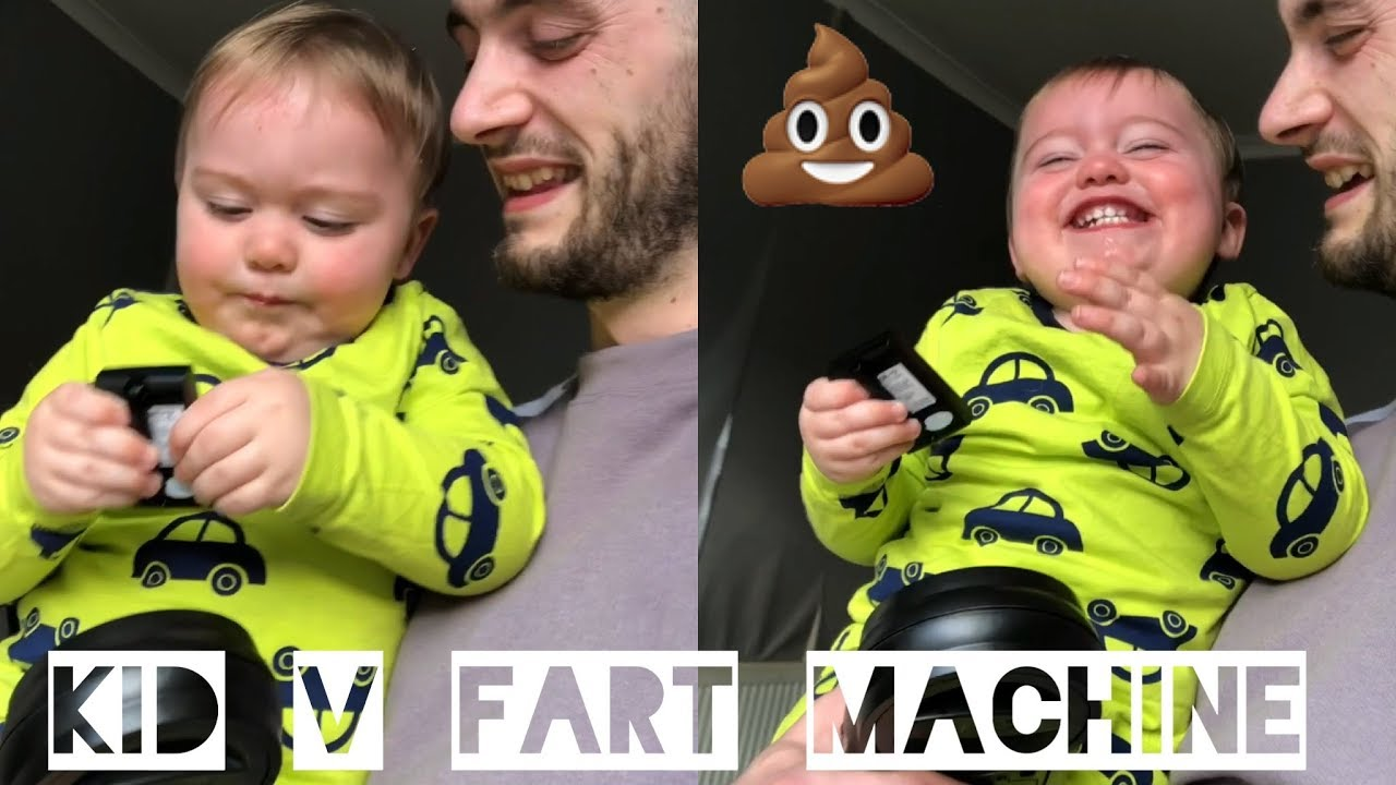 Baby Can't Stop Laughing With Fart Machine!