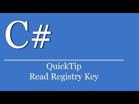 QuickTip #138 - C# Tutorial - Read Windows Registry Key   Visual Studio   .NET   HKEY User