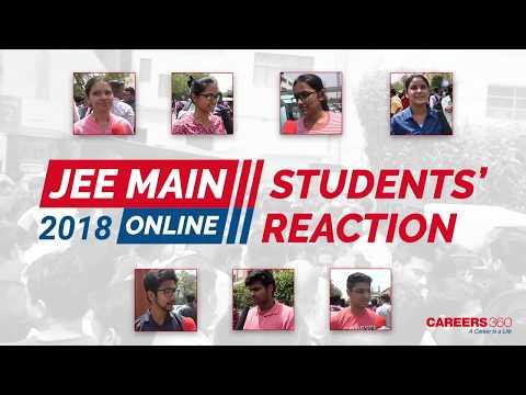 JEE Main 2018 Online Exam Student Reactions