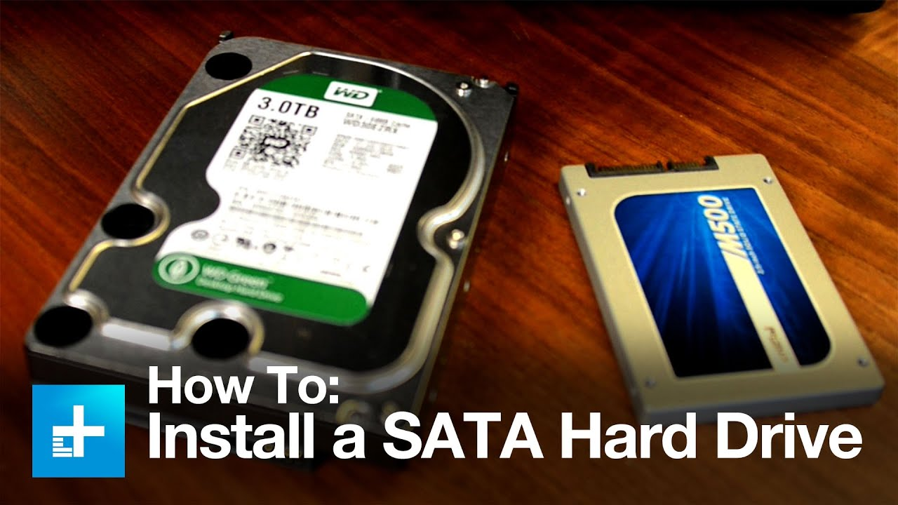 how to install a sata hard drive [ 1280 x 720 Pixel ]