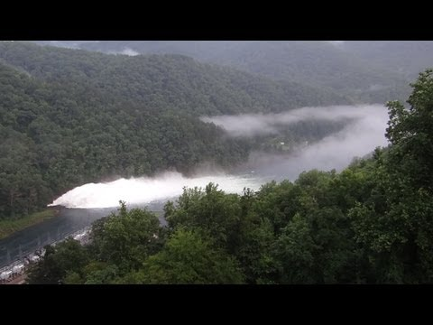 TVA's Fontana Dam - Blow Hole - WOW