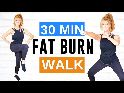 30 Minute FAT BURNING CARDIO Indoor Walking Workout | Low Impact!