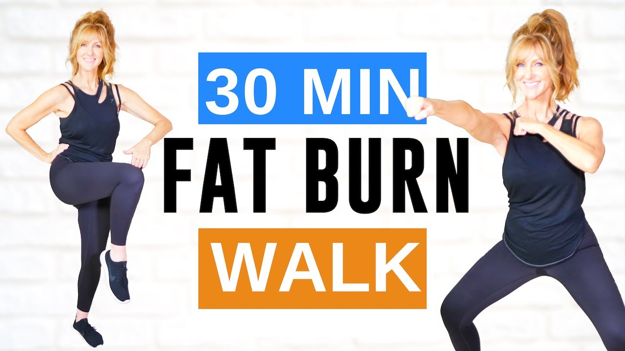 30 Minute FAT BURNING CARDIO Indoor Walking Workout | Low Impact!
