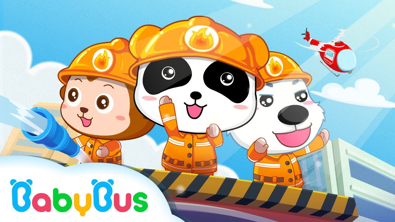 Little Panda Fireman | Firefighter Song | Nursery Rhymes | Kids Songs | Kids Cartoon | BabyBus