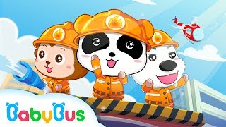 Little Panda Fireman | Nursery Rhymes | Kids Songs | BabyBus